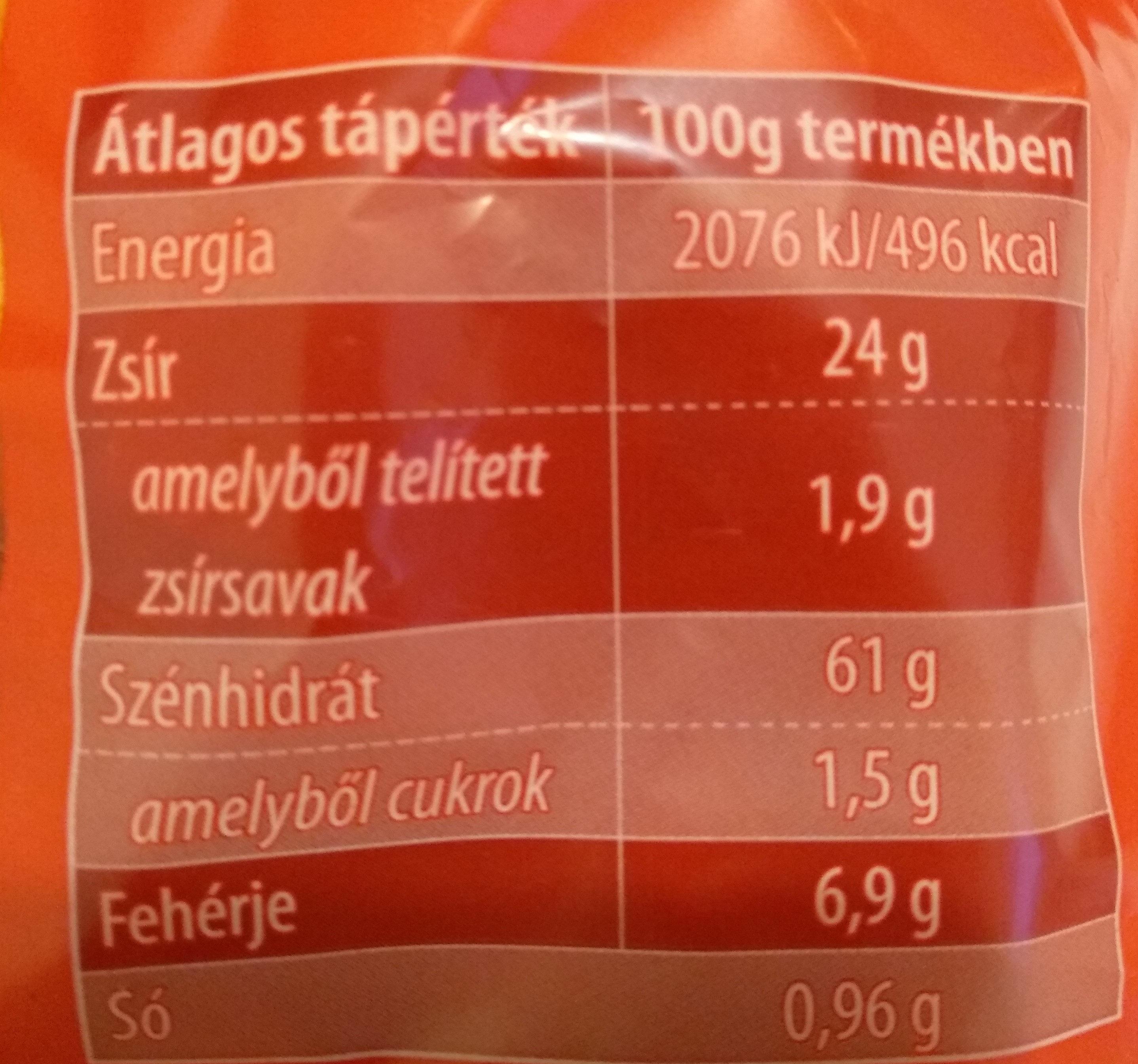 Paprikás Kukorica csemege - Informations nutritionnelles