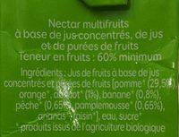 Multifruits bio - Ingrediënten - fr